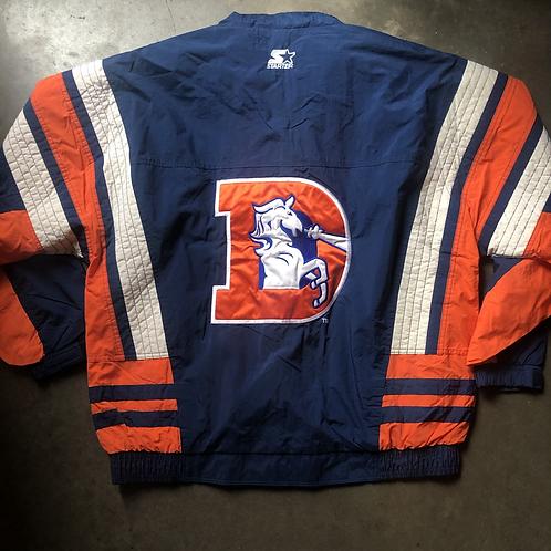 Vintage Starter Denver Broncos Windbreaker Jacket Sz L