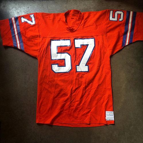 Vintage Sand Knit Tom Jackson Denver Broncos Orange Crush Jersey Sz L
