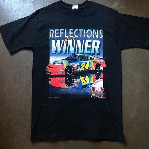 Vintage Jeff Gordon Reflections of A Winner T Shirt Tee Sz L