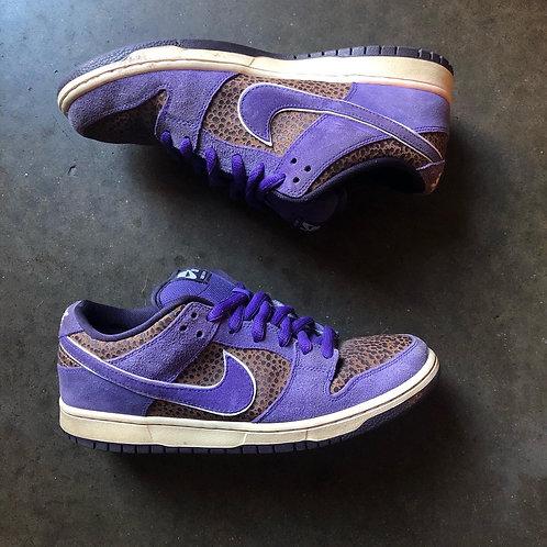 Nike Dunk SB Low Varsity Purple Safari Bison Kenny Powers Sz 9
