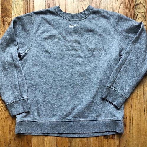 Nike Heather Gray Center Check Crewneck Sweatshirt Sz M