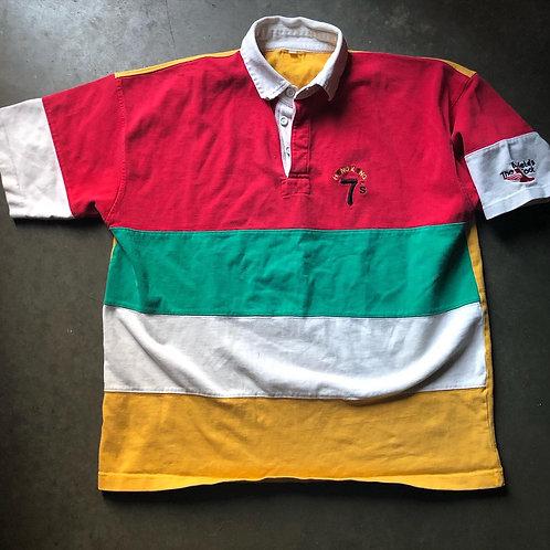Vintage Hong Kong 7s Color Block Rugby Sz L