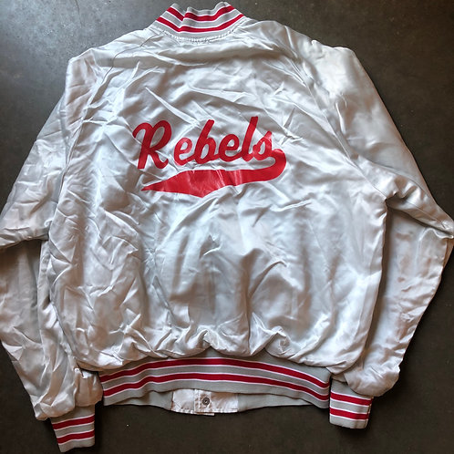 Vintage UNLV Runnin Rebels Satin Bomber Jacket Sz M