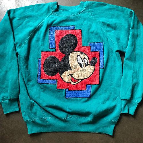 Vintage Disney Mickey Mouse Crewneck Sweatshirt Sz L