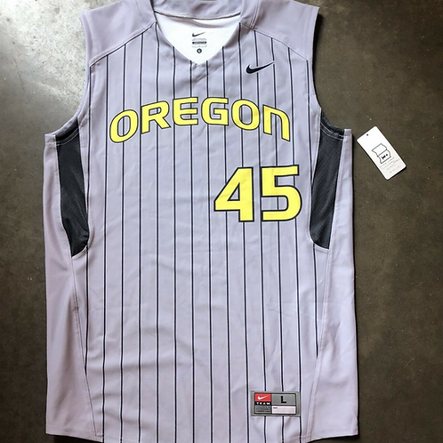 Nike Oregon Ducks Sample Team Issued Baseball Jersey Sz L