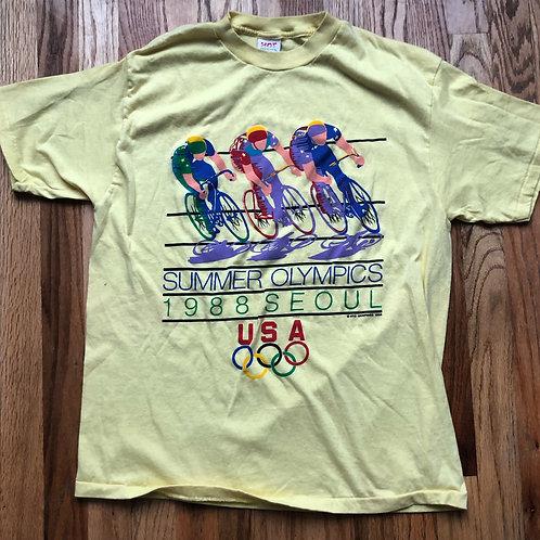 Vintage 1988 Seoul Olympics Team USA T Shirt Tee Sz L