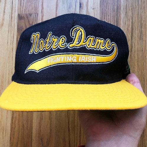 NWT Vintage Starter Notre Dame Fighting Irish Wool Script Snapback Hat