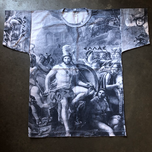Vintage Greece All Over Print T Shirt Tee Sz L