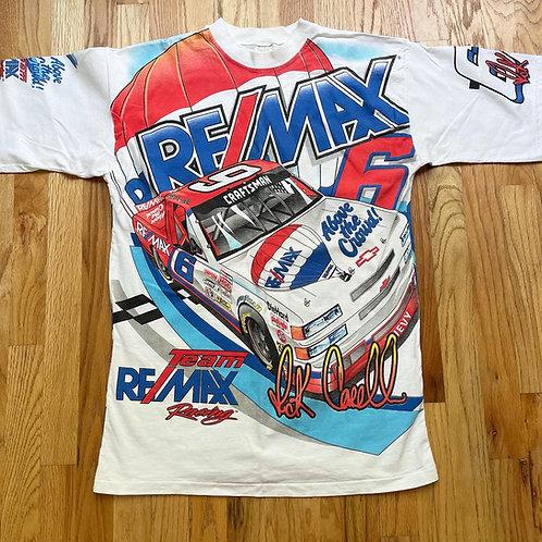 Vintage Rick Carelli Remax Racing NASCAR Truck Series All Over Print T Shirt Tee