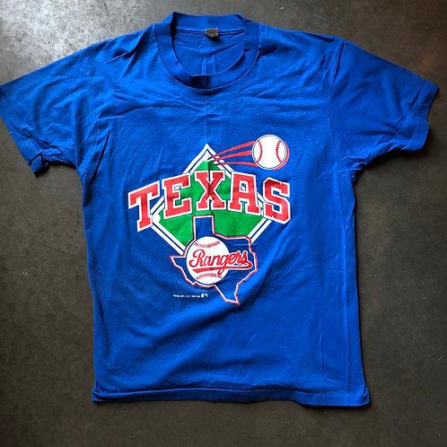 Vintage 1989 Screen Stars Texas Rangers T Shirt Tee Sz M/L