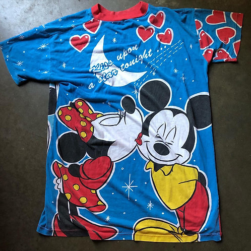 Vintage Disney Mickey Minnie Mouse All Over Print T Shirt Tee Sz 2XL