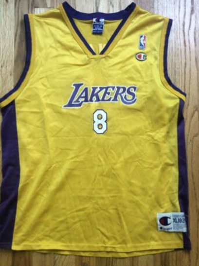 Champion Los Angeles LA Lakers Kobe Bryant Jersey Sz Youth XL