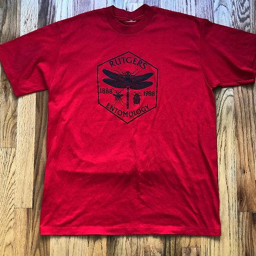 Vintage 1988 Rutgers Entomology T Shirt Tee Sz L