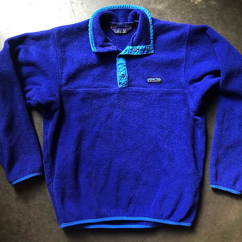 Vintage 80s Patagonia USA Snap T Fleece Pullover Sz S