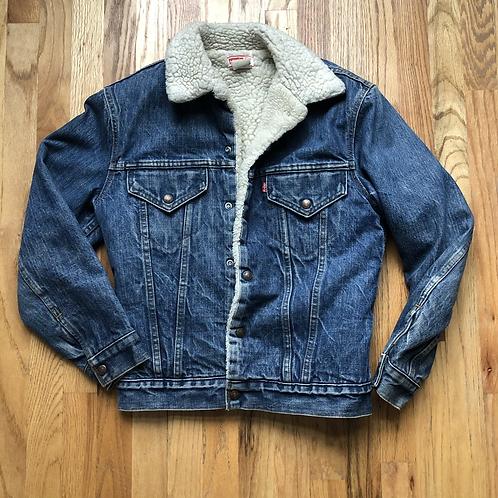 Vintage Levi's USA Sherpa Lined Denim Jean Jacket Sz 36