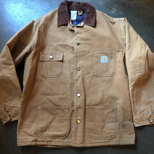 Vintage Carhartt Blanket Lined Chore Jacket Sz 46 L