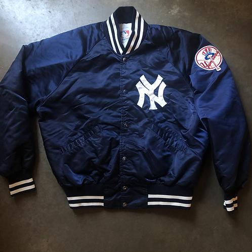 Vintage Starter New York Yankees Satin Bomber Jacket Sz L/XL