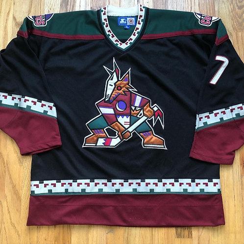 Vintage Starter Phoenix Coyotes Keith Tkachuk Kachina Jersey Sz XL