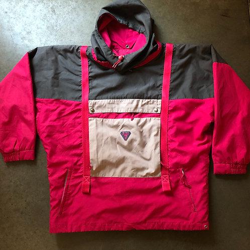 Vintage Degre 7 Oversized Windbreaker Anorak Jacket Sz L