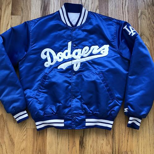 Vintage Starter Los Angeles LA Dodgers Satin Bomber Jacket Sz L
