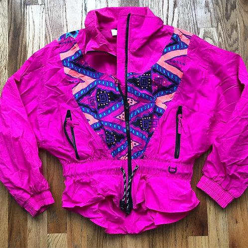 Women's Vintage Ocean Pacific Windbreaker Jacket Sz S