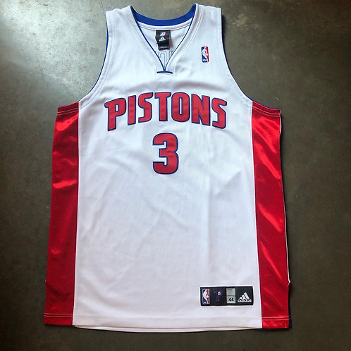 Adidas Authentic Detroit Pistons Rodney Stuckey Jersey Sz 44