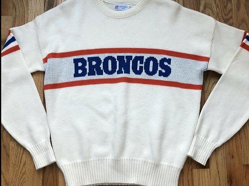 Vintage 80's Cliff Engle Denver Broncos Crewneck Sweater Sz XL