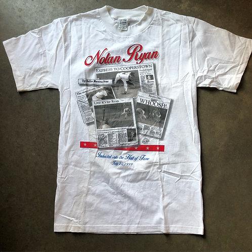 Vintage 1999 Nolan Ryan Hall of Fame T Shirt Tee Sz M