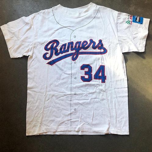 Vintage 80s Nolan Ryan Texas Rangers Jersey T Shirt Sz M/L