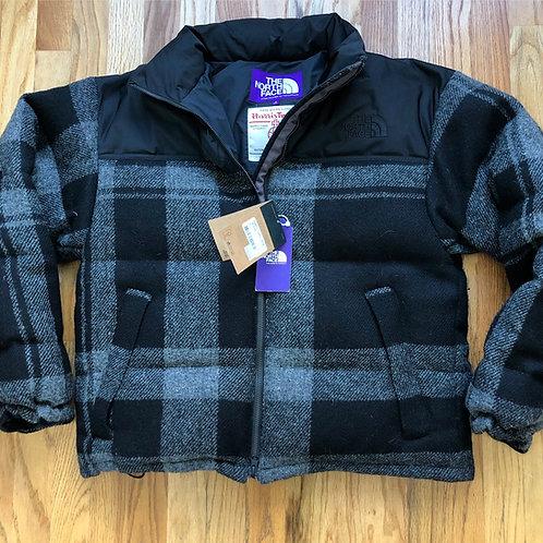 NWT The North Face Purple Label Harris Tweed Nuptse Jacket Sz S