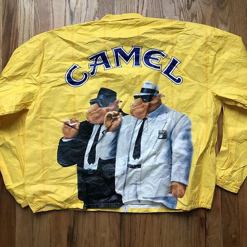 Vintage Camel Cigarettes Tyvek Windbreaker Jacket Sz XL
