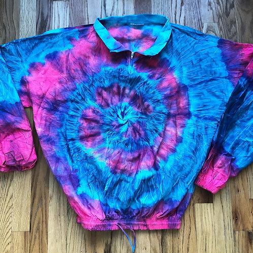 Vintage IN Gear Cotton Candy Tie Dye T Shirt Jacket Sz L