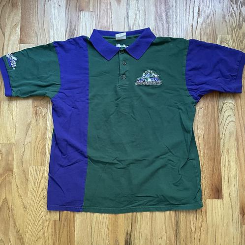 Vintage Majestic 1998 Colorado Rockies All Star Game Polo Shirt Sz L