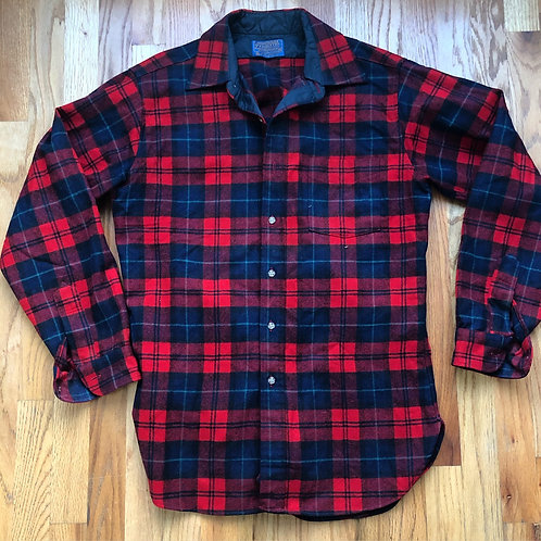 Vintage 80s Pendleton USA Button Up Flannel Sz M