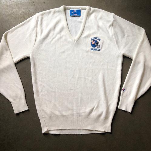 Vintage Champion Denver Broncos V Neck Sweater Sz L