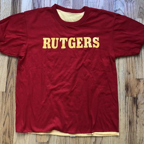 Vintage 70's Velva Sheen Rutgers Scarlet Knights Navy ROTC Dive T Shirt XL