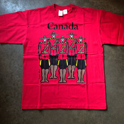 Vintage Canadian Mounted Police T Shirt Tee Sz XL