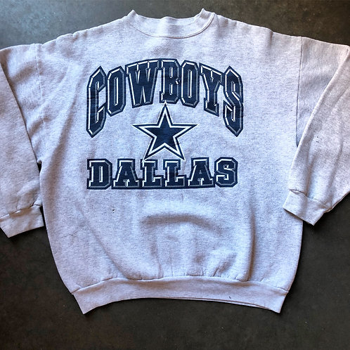Vintage Logo 7 Dallas Cowboys Crewneck Sweatshirt Sz L/XL