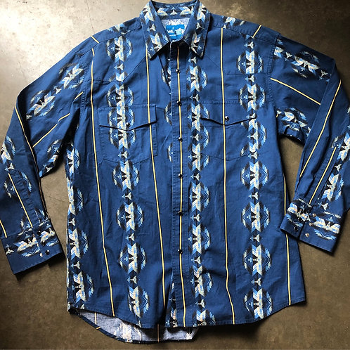 Vintage Wrangler Western Wear Button Up Shirt Sz XL