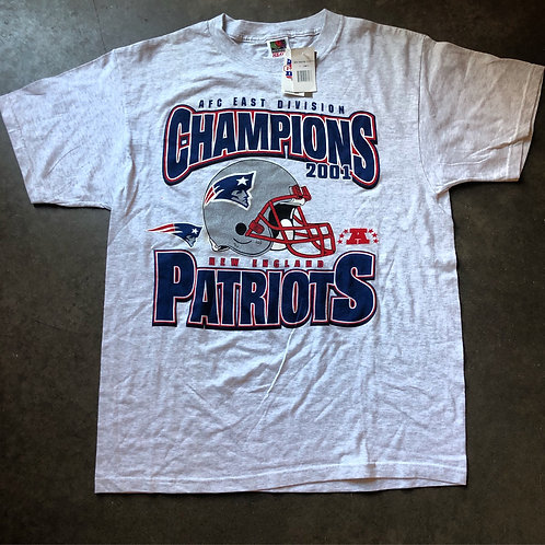 NWT New England Patriots AFC East Champs Heather Gray T Shirt Tee Sz XL