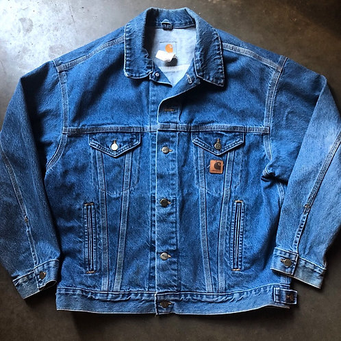 Vintage Carhartt USA Denim Jean Jacket Sz L