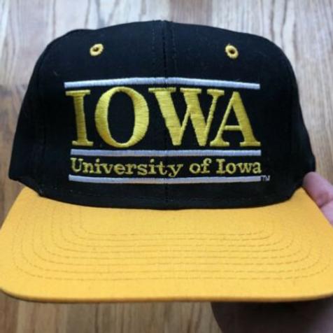 Vintage The Game Iowa Hawkeyes Split Bar Snapback Hat
