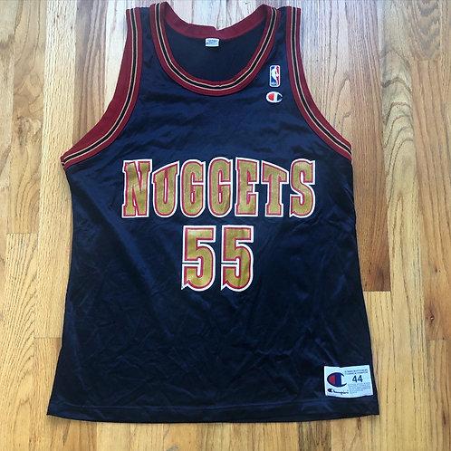 Vintage Champion Denver Nuggets Dikembe Mutombo Jersey Sz 44 (L)