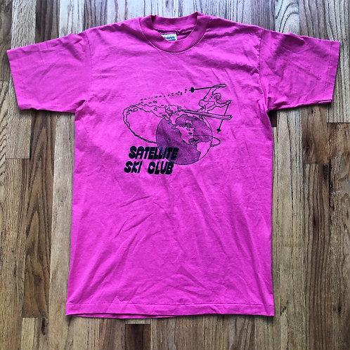 Vintage Hanes Satellite Ski Club T Shirt Tee Sz M