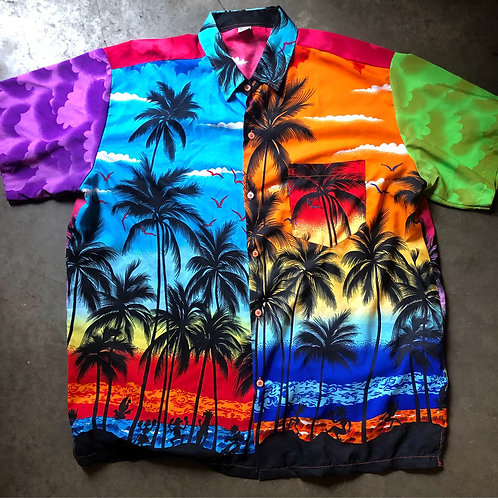 Vintage King Kameha Hawaiian Button Up Shirt Sz 2XL