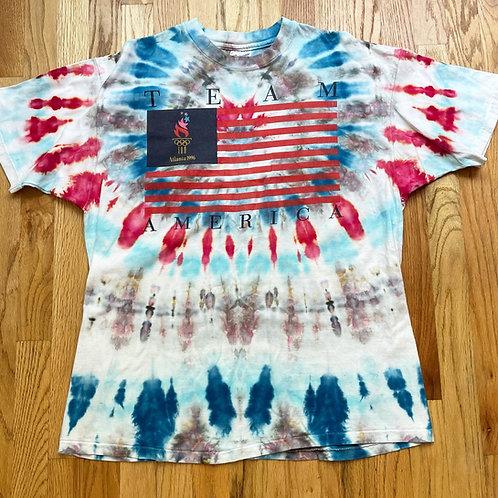 Vintage Team America 1996 Atlanta Olympics Tie Dye T Shirt Tee Sz XL