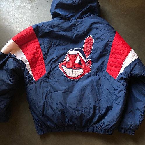 Vintage Starter Cleveland Indians Chief Wahoo Jacket Sz M