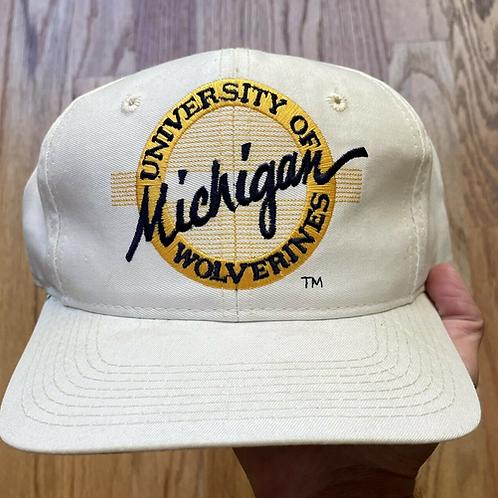 Vintage The Game Michigan Wolverines Circle Logo Snapback Hat