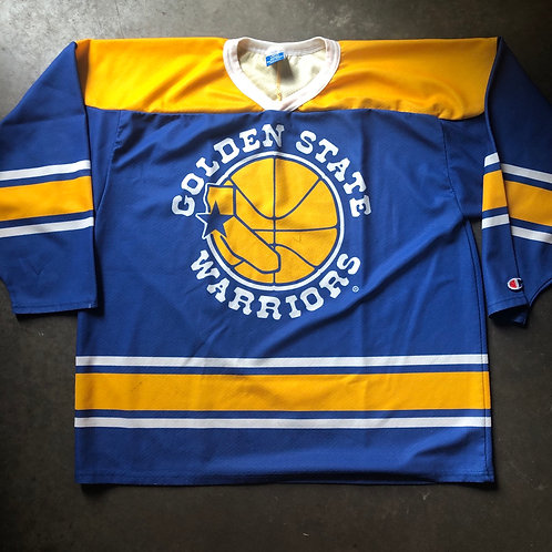Vintage Champion Golden State Warriors Hockey Jersey Sz L