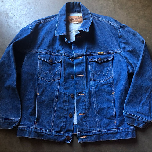 Vintage Wrangler Western Wear USA Denim Jean Jacket Sz 46 (L)